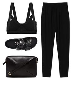 """""""Untitled #3624"""" by michelanna ❤ liked on Polyvore featuring VPL, Monki, Birkenstock and Marc by Marc Jacobs"""