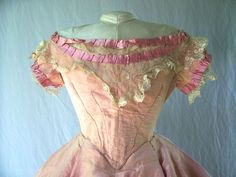 Bodice from an 1860s ballgown.
