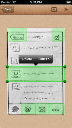 POP - Prototyping on Paper app for iPhone    POP helps you make interactive prototype with ease. If you can draw, you can design apps. The workflow is ridiculously simple:    1⃣ Design on Paper  2⃣ Take Pictures  3⃣ Link & Play