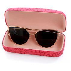 Diamond Sunglasses ($67) ❤ liked on Polyvore featuring accessories, eyewear, sunglasses, gold trim glasses, diamond glasses, diamond sunglasses, dark glasses and dark sunglasses
