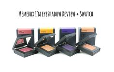 Memebox I'm eyeshadow review and swatch