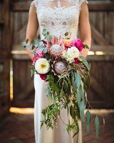 This bride's bouquet was full of the most beautiful native Australian blooms.... Photography ~ @pierrecurry_ // Wedding Dress ~ @ja_bridal // Bridal Boutique ~ @fairytalesbridalboutique // Bridal Shoes ~ Dianna Ferrari // Bridesmaid's Dresses ~ @modcloth & @asos // Bridesmaids Shoes ~ Bonbons // Groom's Attire ~ @oscarhunttailors // Accessories ~ @samanthawillsbridal // Hair ~ @sassybosshair // Ceremony Venue ~ Collingwood Children's Farm // Celebrant ~ Julia Doevan // Floral Design…