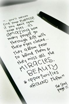 ENJOY all the MIRACLES, OPPORTUNITIES and BEAUTY around YOU!