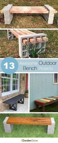 13 Outdoor Bench Projects, Ideas, Tutorials by norma