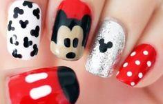 Diseños de uñas para niñas, diseño de uñas para niñas mikey.   #manicuras #nailsCLUB #uñasbonitas