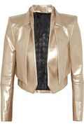 Awesome, so reminds me of David Bowie for some unknown reason...    Karl  Jane metallic faux leather jacket