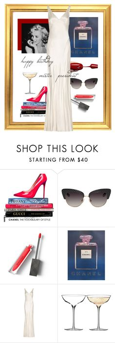 """""""happy birthday mr. president"""" by farawaylands ❤ liked on Polyvore featuring Chanel, Dolce&Gabbana, Burberry, Andy Warhol, Ghost and Waterford"""