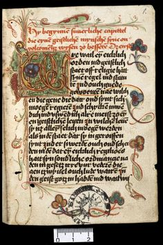 medieval manuscript in the collection of Utrecht University Library, The Netherlands.