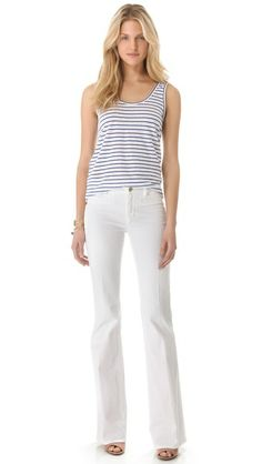love these white jeans! MiH Marrakesh Kick Flare Jeans