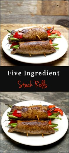 Steak Rolls, only five ingredients! Crazy easy and super impressive! www.maebells.com