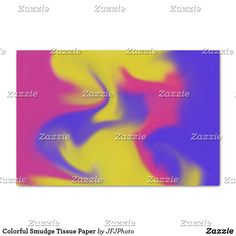 Shop Colorful Smudge Tissue Paper created by JFJPhoto. Custom Tissue Paper, Small Gifts, Just Go, Smudging, My Images, Presentation, Colorful, How To Make, Prints
