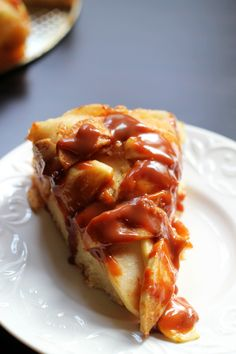 Apple Pie Coffee Cake with Dulce de Leche