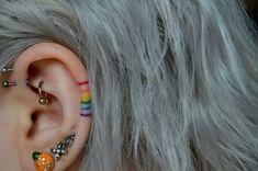 Fantastic Free Cartilage Piercings aesthetic Popular While a typical piercing i. - Fantastic Free Cartilage Piercings aesthetic Popular While a typical piercing isn't really plent - Form Tattoo, Mädchen Tattoo, Shape Tattoo, Rain Tattoo, Tebori Tattoo, In Ear Tattoo, Yakuza Tattoo, Tattoo Blog, Tattoo Flash