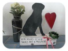 """Deko-Objekte - Hund """"Silhouette"""" - ein Designerstück von gabi-schweizer bei DaWanda"""