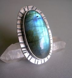 Labradorite and Sterling Silver Ring by StarNative on Etsy