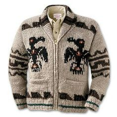 Cowichan Sweater with Ravens