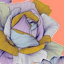Image result for flower pattern lino print