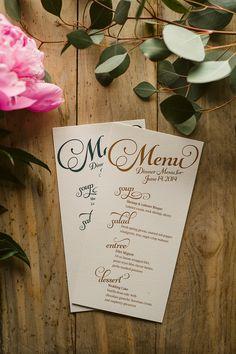 Menus for Any Suite! menus for wedding reception, script wedding menus, rustic wedding menus, elegant wedding menus