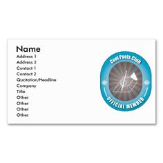 Cool Poets Club Business Card Templates