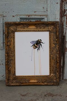 Watercolor Bee 11x14 poster by IScreenYouScreen on Etsy