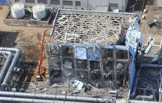 """This is a building on the site of the Fukushima Power Plant site """"after"""" the disasters. This building was obviously meant to withstand earthquakes, fire, and flood.  But look how destroyed the building is.. something has caused terrible destruction."""