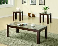 The Coaster 700395 3-piece Coffee table and End table set with Faux marble top in brown finish features a brown finish on the legs and apron and a grey marble-like table top. Place these end tables near a sofa or recliner for style and functionality. Viddyoze TC Trial Video Sales Machine Upgrade... more details available at https://furniture.bestselleroutlets.com/living-room-furniture/tables/living-room-table-sets/product-review-for-coaster-home-furnishings-3-piece-faux-marbl