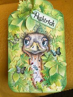 Handmade Tags, Ink Stamps, Pink Design, Emu, Tag Art, Type 1, Cardmaking, Dragons, Stamping