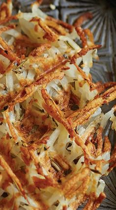 Waffled Hash Browns with Rosemary - cook 'em on your waffle iron! And stuffing, with all those pockets for the gravy!