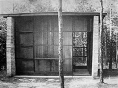 Paul Beider, Music practice room 1945. The architecture of black mountain college