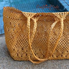 Sea bag : made to order - sent out #macrame #CraftingMode