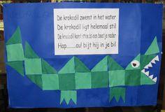 krokodil POEM + shapes, patterns, etc juf-joyce. Safari Jungle, Jungle Theme, Jungle Animals, Art Activities For Kids, Art For Kids, Dramatic Play Themes, Kids Zoo, Reptiles, Louisiana Art