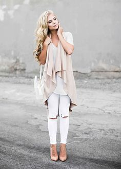 Date night. drape neutral colors, fall style, womens fashion, style, fashion, street style, mixing neutrals, camel, white tote, distressed white jeans, jessakae