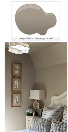 """great bedroom color--benjamin moore """"Ashley Gray"""""""
