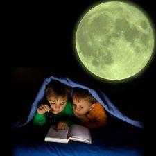 "XL Moonlight Glow in the dark wall decal Moon sticker 11.8"" (30 cm)"