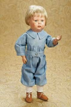 The Well-Bred Doll: 216 American Wooden Character Toddler by Schoenhut,Model 108
