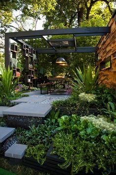 40 Awesome Backyard Garden Landscaping Ideas On a Budget Erstaunliche 40 fantastische Hinterhof-Gart Small Backyard Landscaping, Backyard Garden Design, Modern Landscaping, Patio Design, Backyard Patio, Landscaping Ideas, Backyard Ideas, Landscaping Software, Modern Backyard