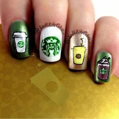 Lets go to Starbucks with Starbucks Nails | MiCHi MALL