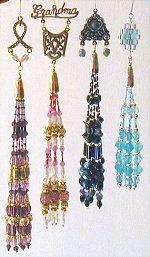 Charming Beaded Tassel Ornaments Pattern Set #2 at Sova-Enterprises.com Many FREE Bead Patterns available!