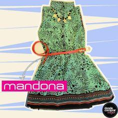 ¡Espectacular este vestido de Mandona Tienda! ¿Cómo completarías el outfit?