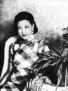 2bcdfdedccee Chinese silent film actress, Ruan Ling-yu, early 1930s - her cheongsam is .