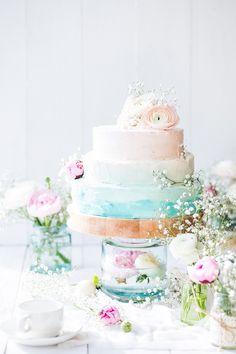 Вдохновение: свадебные торты Омбре. Elegant Wedding Cake Ombre