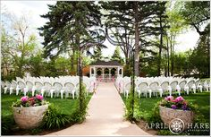 Tapestry House in Laporte, CO.  Our gazebo is beautiful any time of year (this is the Springtime!)  Photo by April O'Hare Photography