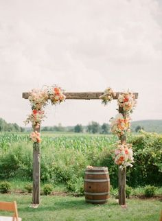 Image result for rustic wedding arch