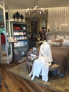 We have a beautiful bedding display in each store where you have the opportunity to feel how soft and luxurious our bedding is. Visit your local Soft Surroundings store today. Pictured is or store in Ridgeland, MS at the Renaissance at Colony Park.