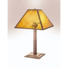 """Steel Partners Mission 26"""" Table Lamp Finish: Rust, Shade: Slag Glass Pretended"""