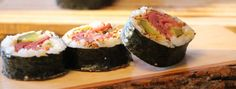 Maki au smoked meat et cornichons frits /Sushi à la folie