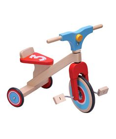 Take a look at this Three-Wheel Wood Bike by DUSHI on #zulily today!