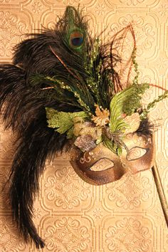 Hand made Mardi gras mask by KRea11 on Etsy, $139.95