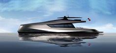 JFA Yachts & Peugeot Design Lab están desarrollando este 115' power catamaran..