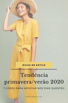 Summer 2020 trend: what will be the colors of spring / summer - Tendência verão quais serão as cores da primavera/verão Summer 2020 trend: what will be the colors of spring / summer The Colour Of Spring, Grunge, Fashion 2020, Fashion Trends, Mellow Yellow, Color Trends, Capsule Wardrobe, Stylists, Spring Summer